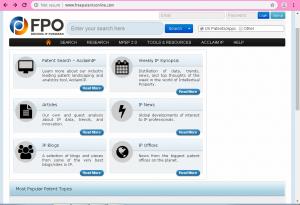 جستجوی اختراع در Free Patent Online