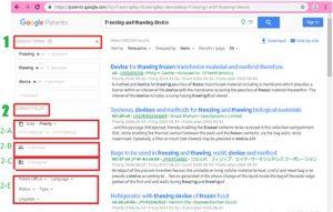 سرچ در گوگل پتنت